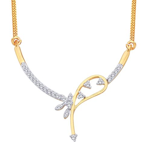 gold necklace 0 75 ct certified occasion