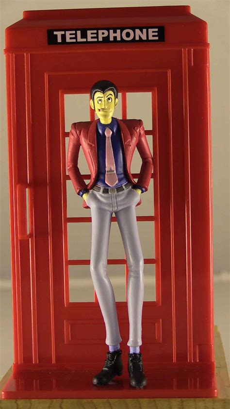 cabina telefonica inglese vendita modellino gashapon anime rupan lupin cabina