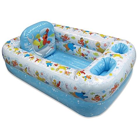 inflatable bed bathtub buy ginsey sesame street inflatable bath tub from bed bath