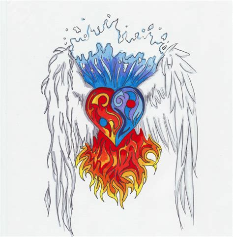 fire and water tattoo designs and water designs
