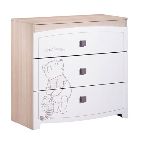 chambre winnie sauthon winnie commode 3 tiroirs blanc de sauthon s 233 lection