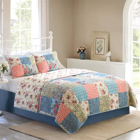 Multi Colored Quilt Bedding Better Homes And Gardens Multi Color Vintage Bedding Quilt