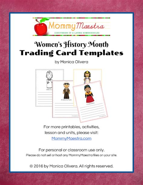 author trading card template maestra free in world history