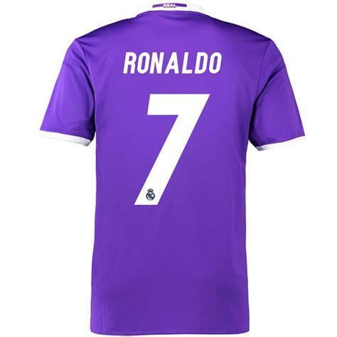 Jersey Bola 7 Ronaldo Real Madrid Third 17 18 Grade Ori Font Ucl adidas real madrid ronaldo 7 away 16 17 soccer jersey purple white real madrid soccer
