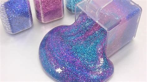 diy slime how to make glitter galaxy clay slime recipe diy toys