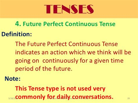 pattern of future perfect continuous tense future tense for slideshare