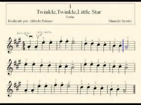 Suzuki Twinkle Twinkle Partitura Twinkle Twinkle M 233 Todo De Viol 237 N