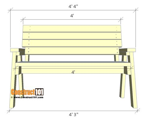 2 by 4 bench 2x4 bench plans step by step material list construct101