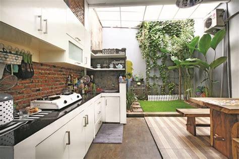 desain dapur terbuka  halaman belakang renovasi rumahnet