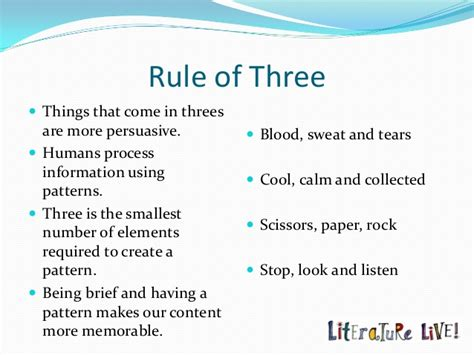 pattern of three english copywriting and the rule of three textuar blog