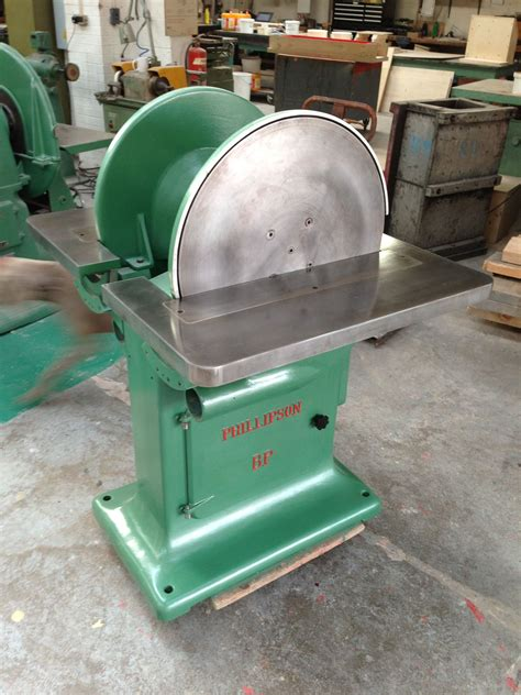 phillipson double disc sander fully refurbished antique