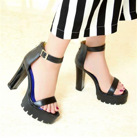 Genuine Leather Platform Sandals by Genuine Leather Platform Sandals 2015 High Heel White
