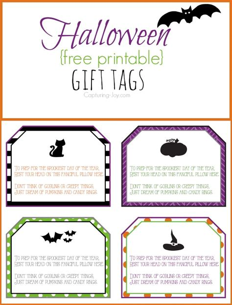 printable gift tags customized free free printable personalized halloween gift tags images