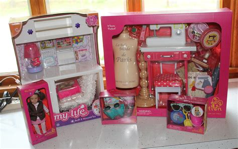 my life doll desk early birthday haul and review of my life as desk