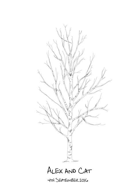 birch wedding fingerprint tree guest book by new birch fingerprint tree guest book kit