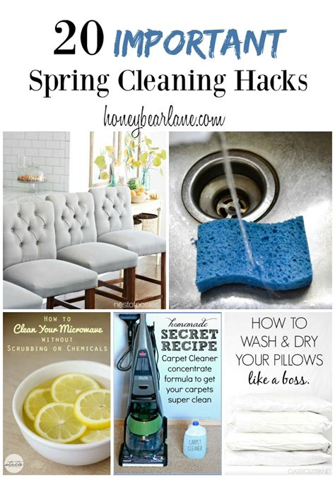 spring cleaning hacks 25 cleaning hacks for spring cleaning honeybear lane