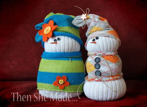 diy craft how to make a sock snowman huffpost