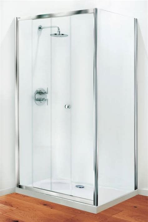 Coram Shower Doors Coram Optima Sliding Door Shower Enclosure 1000mm Modesty Glass