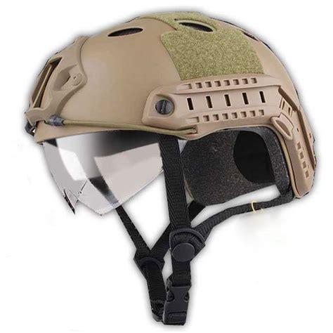 helm tactical airsoft gun brown jakartanotebook