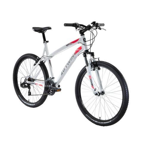 cuadro de bicicletas de monta a bicicleta de monta 241 a rockrider 340 blanco 26 quot decathlon