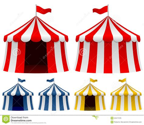 circus tent collection royalty free stock image image