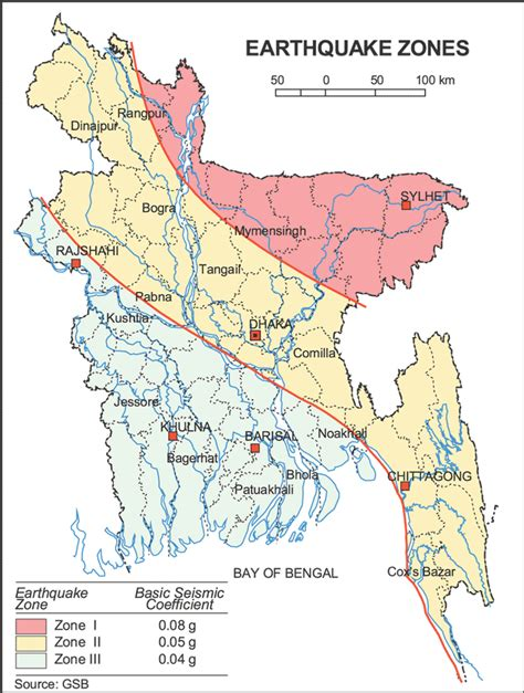 earthquake zones map earthquake zone of bangladesh face of bangla