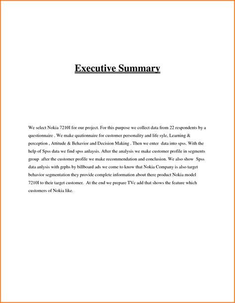 8 executive summary example resume precis format
