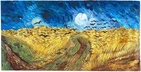 100 paint color wheatfield saatchi crows flying a wheat field painting by