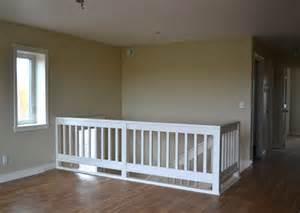 stair railing white