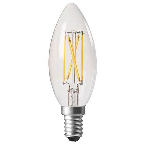 amitex 3 5w dimmable filament candle l ses e14 320lm 2700k ax439