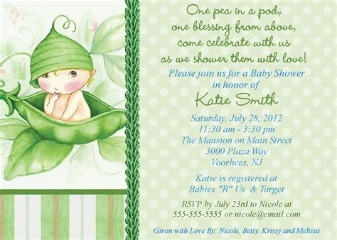 baby shower invitation sle invitation templates