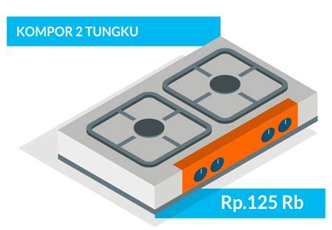 Kompor Prima Cook 2 Tungku jasa service ac kulkas bandung dan service elektronik bandung