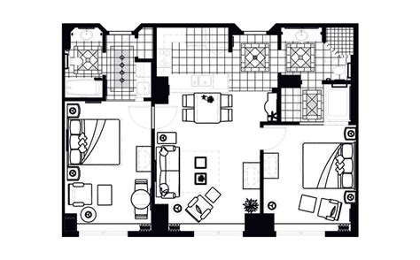 Elara 4 Bedroom Floor Plan Grand Vacations Resort On The Boulevard In Las