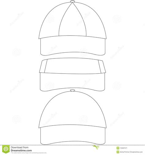 blank hat template set of blank hat templates stock vector image of template