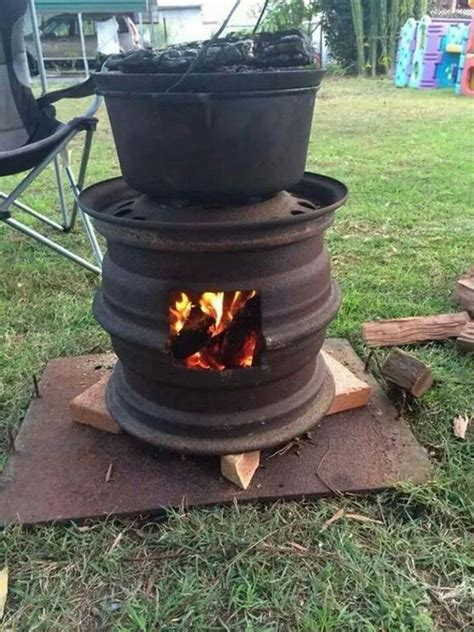 recycled tire bbq and pit ideas2live4