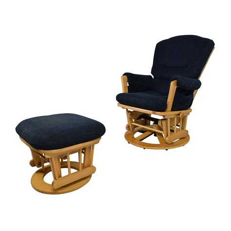 reclining glider and ottoman set 76 dutailier dutailier navy sleigh reclining glider
