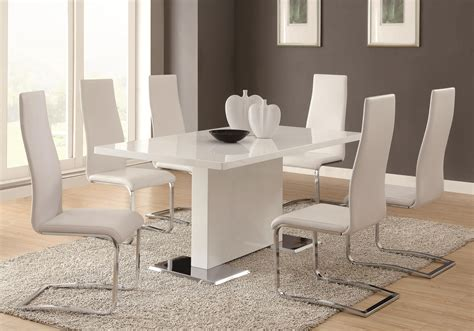 Modern Dining Table With Chairs Modern Dining 100515 By Coaster Sol Furniture Coaster Modern Dining Dealer