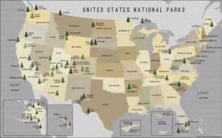 map of parks buy us national parks map