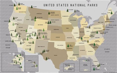 national parks usa map buy us national parks map