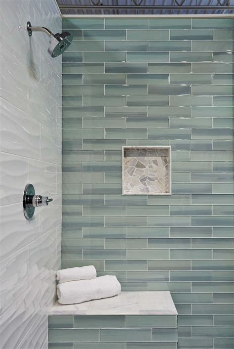 17 best ideas about glass tile bathroom on shower niche master shower and master