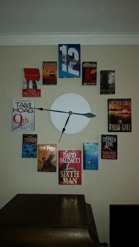clocks a novel books the diy book wall clock is cool and incredibly useful