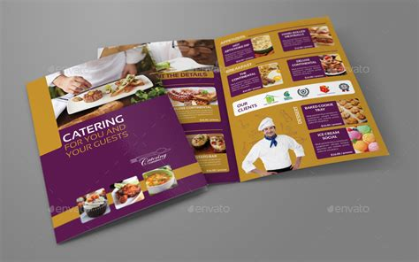 catering bi fold brochure template by owpictures