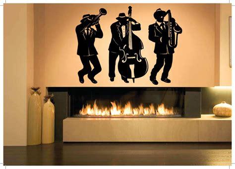 jazz group concert decal musicians wall decals home wall room decor art vinyl sticker mural decal jazz band