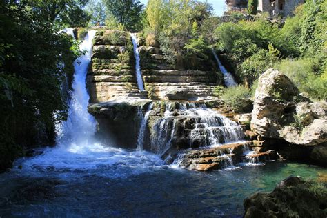 waterfalls in south of france rented a car to visit some