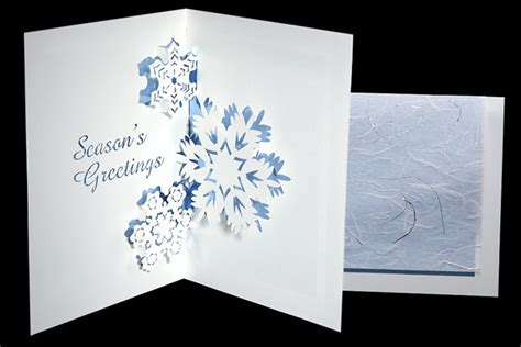 snowflake pop up card template three snowflakes origami architecture pop up cards by