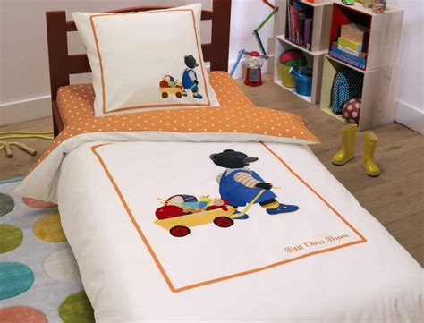 linge de lit enfant petit ours brun 174 linvosges
