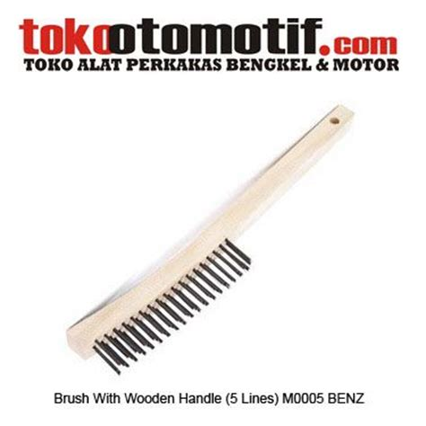 Tora Kikir Gagang 4 Inch brush with wooden handle 5 lines m0005 sikat