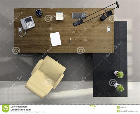 dessus de bureau vue de ci dessus du bureau photographie stock image 5382092