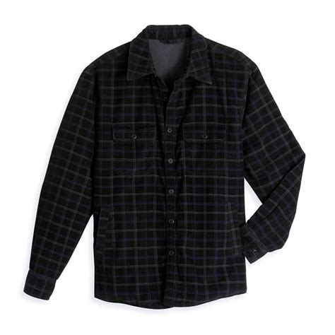 Plaid Shirt Jacket covington fleece lined corduroy plaid shirt jacket