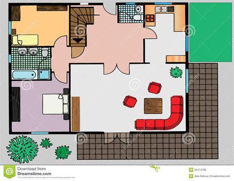 Plan Wohnung by Plan Der Wohnung Die Draufsicht Lizenzfreies Stockbild